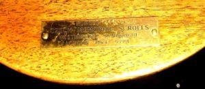 Czech Torah Name Plate