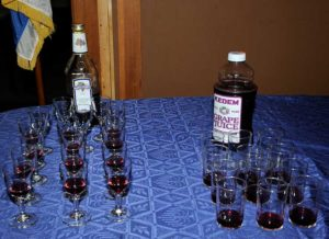 Wine and Juice for Kiddush