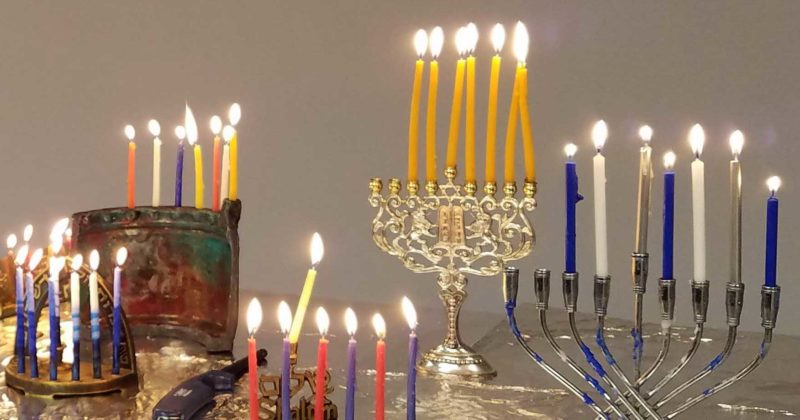 Hanukkah Candle Lighting, Shabbat Services with Sunwheel, and Dinner This Friday